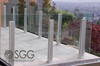6mm -12mm outdoor modern deck railing