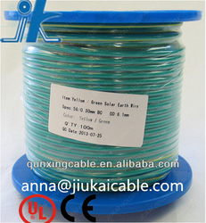 Professional OEM Factory Power Supply pvc yellow and green earth wire electrical wire