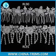 newest fashion embroidery cord lace in yard RL91