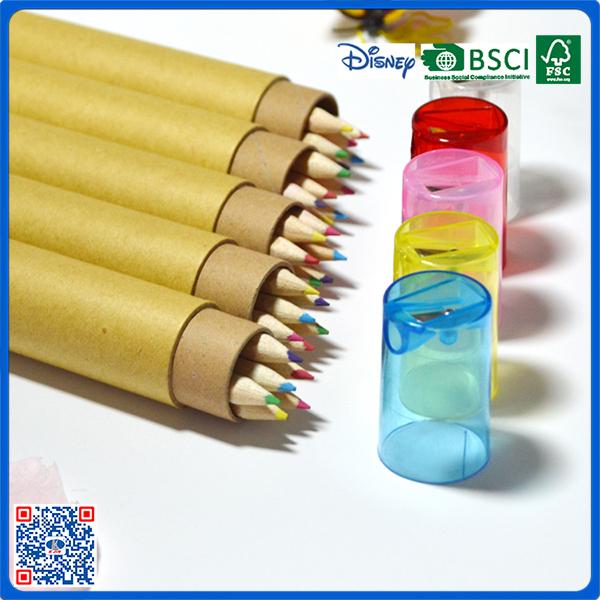 Nguyên liệu an toàn 7 inch 5 bút chì màu set trong box với mài nắp