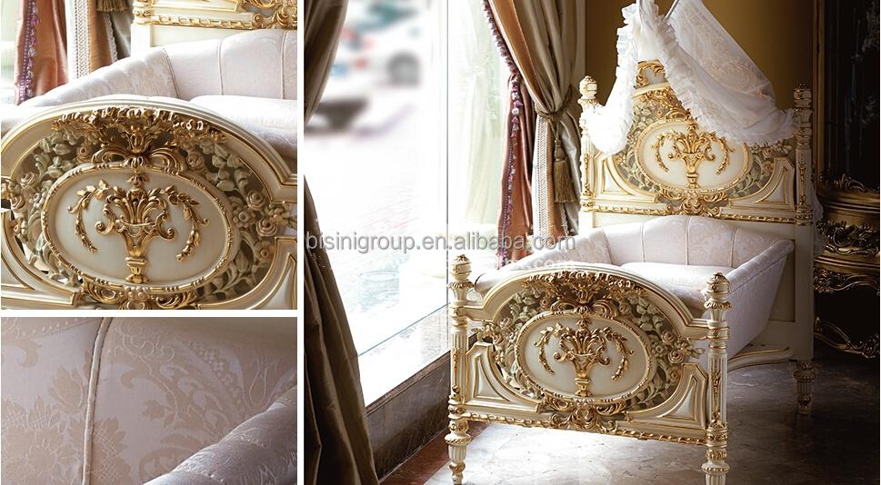 Luxury Royal Wooden Baby CribEuropean Style New Born
