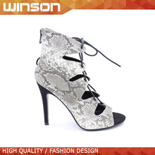 peep toe lace up high heel gladiator sandals for women