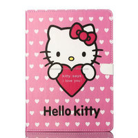 fashion Cartoon cute flip stand folding tablet leather case for IPad air