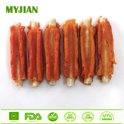 Rabbit Rib Rabbit Jerky Wrapped Munchy Stick Dental Stick Dry Pets and Dogs Food Dog Chews Dog Treats OEM and Private Label