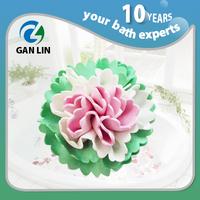 PVA bath sponge shower pouf bath lily super mesh pouf soft colorful pouf