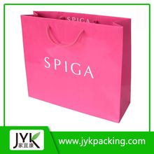 NEW Year Hot Pink custom paper bags with handles wholesale