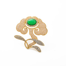 Women Noble Pins Accessories 18k Gold Pearl Brooch Pins
