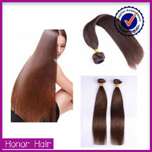 Top quality no tangle Qingdao honor hair orange hair extension