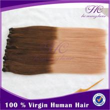 Aliexpress hot sell beautiful two tone colouring hair extension product