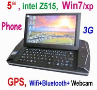 """5"""" 5 inch win7 MID Phone PDA UMPC Mobile Phone Smart Phone or Smartphone or laptop computer with GPS 3G Phone Windows 7"""