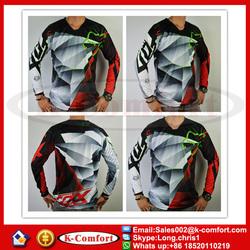 KCM2039 FOX Motocross Jersey for MTB ATV MX DH Men Motorcycle Jersey Mountain Dirt Bike Bicycle Cycling Jersey Shirt