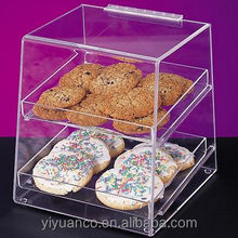 clear acrylic bread box/acrylic box candy/acrylic candy dispenser box