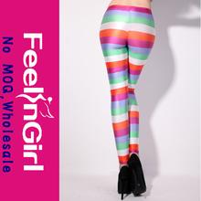 el último estilo de la pierna de largo tramo de la moda arco iris medias calzas pantalones
