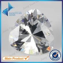 Shining top quality Machine cut trillion cut white artificial zircon