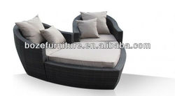 Rattan chaise lounge outdoor furniture day bed / sun lounger furniture sofa garden