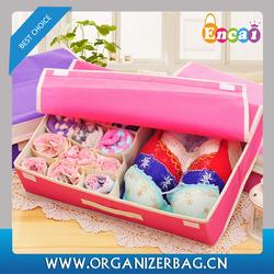 Encai Fashion Colourful Underwear Storage Boxes Wholesale Underpant & Socks Organizer Box With Handle
