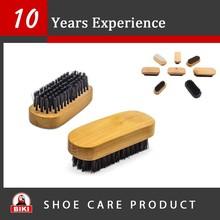 Pig Hair wooden handle shoe hog hair brush for sneaker