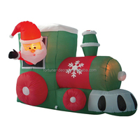 150cm/5ft polyester Christmas inflatable train, santa driving train air blown yard decoration