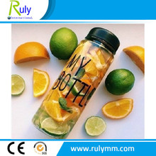 Clear/transparent plastic bottles for fresh fruit container