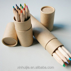 Hot sale recycled brown kraft paper tube and color pencil packing box