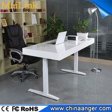 Steel Ergonomic adjustable height floor stand laptop table with diy desktop