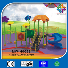 amusement park kids outdoor playground,plastic slides with swings for sale