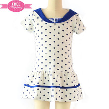ShiJ Kids School Girl Uniform Polka dots Knitted