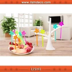 Fruit Fork Set With Flower Decoration