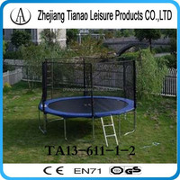 2015 trampoline spare net, blue 4m big trampoline with enclosure and ladder TA13-611-1-2