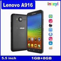 Original Lenovo A916 4G TD LTE Android 4.4 Octa Core MTK 6592 1.4Ghz 1G RAM 8G ROM Mobile phone 13MP 5.5''