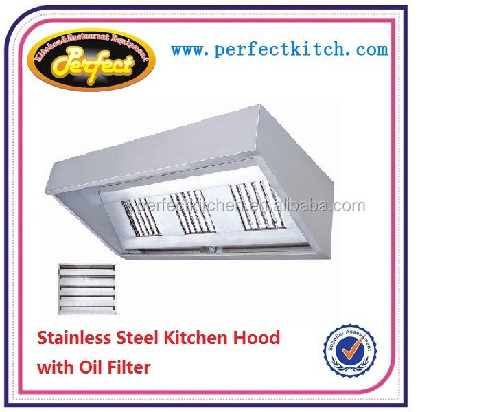 Stainless Steel Commercial Kitchen Extractor Hood Restaurant Range Cooker Hood