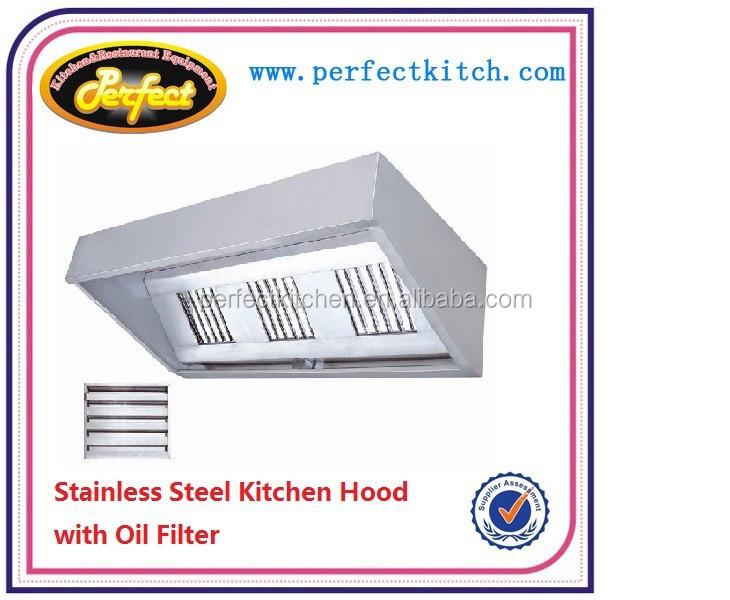 Stainless Steel Commercial Kitchen Extractor Hood Restaurant Range Cooker Hood