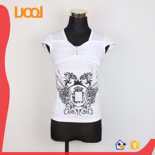 v shape t shirt remove print t shirt cut and sew t-shirt custom