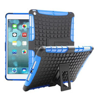 2015 new PC+TPU heavy duty hybrid combo display stand phone shockproof case cover for ipad 5