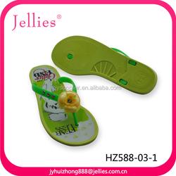 New Design 2014 Flat Jelly Plastic Women Wedge Heel Slippers Shoes