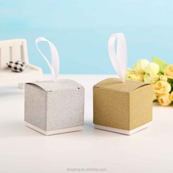 Favor Boxes Gold or Silver Glitter Wedding Favor Box Sparkly Shiny Wedding Favor Box Baby Shower