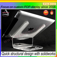Counter ipad display stand & clear acrylic holder for ipad