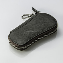 New popular products handmade craft leather zipper key case