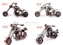 Scala di metallo modello di moto, antico finitura motorcyles modelli