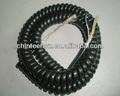 Multi de resorte del núcleo del cable en espiral con papel de al, de aluminio trenzado, lleno de algodón de fibra