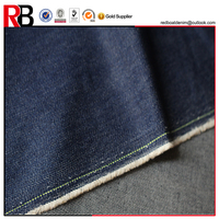 100% cotton indigo color woven yarn dyed denim fabric 12oz