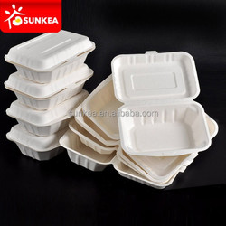 High quality 8inch bagasse pulp food containers
