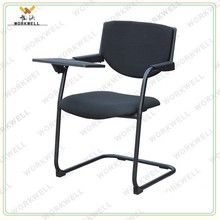 WorkWell stackable conference chair with writing tablet kw-v5046