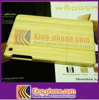 simple White Bamboo Case For Ipad mini, custom stuck down wood mobile phone case for ipad mini