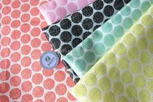 Acrylic woven fabric jacquard dots designed jacquard fabric wholesale for women's dress 2015