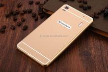 2015 New design Back Cover Aluminum Metal Bumper Frame + PC Phone Back Case case cover for lenovo k3 note alibaba china
