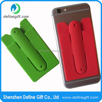 Factory Supply 3m Sticky Silicone Slap Mobile Phone Card Holder Stand