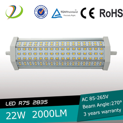 LED R7S non-dimmable high lumen 189mm r7s 22w led light for indoor use