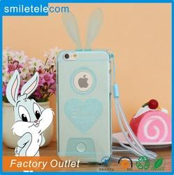 2013 Guangzhou Hot Selling Lovely Bunny Rabbit Ear Case For i5/i6/i6 plus