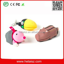 PVC cartoon animal shape usb 8 gb, animal shaped usb flash drive no minimum